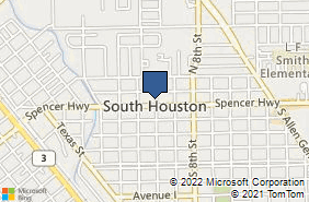 Bing Map of 515 Spencer Hwy Ste A South Houston, TX 77587