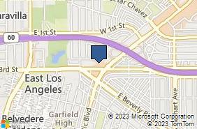 Bing Map of 5161 Pomona Blvd Ste 212 Los Angeles, CA 90022