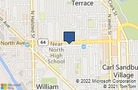Bing Map of 521 W North Ave Chicago, IL 60610