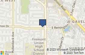 Bing Map of 525 W Remington Dr Ste 101 Sunnyvale, CA 94087