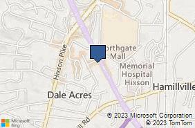 Bing Map of 5251 Highway 153 Ste B Hixson, TN 37343