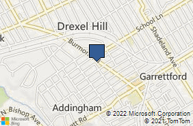 Bing Map of 528 Burmont Rd Drexel Hill, PA 19026