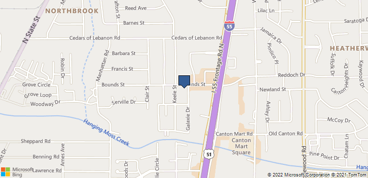5295 Galaxie Drive Jackson, MS, 39206 Map
