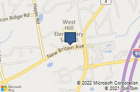 Bing Map of 53 New Britain Ave Rocky Hill, CT 06067