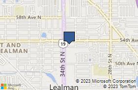 Bing Map of 5301 34th St N Ste A St Petersburg, FL 33714
