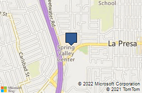Bing Map of 535 Sweetwater Rd Spring Valley, CA 91977