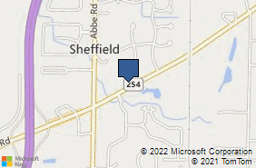 Bing Map of 5383 Detroit Rd Sheffield Village, OH 44054