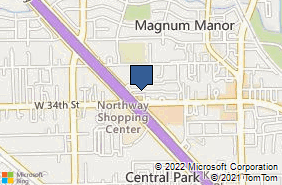 Bing Map of 5392 W 34th St Houston, TX 77092