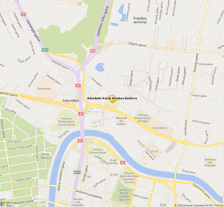 Bing Map of 54.69864509855424,25.269039448162857