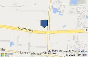 Bing Map of 545 E North Ave Carol Stream, IL 60188