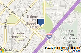 Bing Map of 5457 Diablo Dr Sacramento, CA 95842