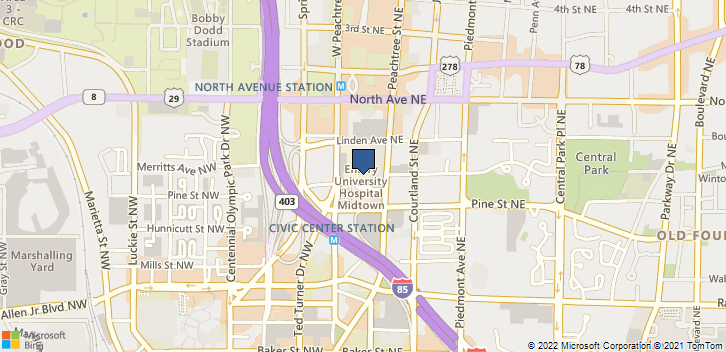550 Peachtree St Ne Atlanta, GA, 30308 Map