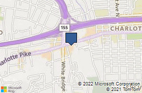 Bing Map of 5517 Charlotte Pike Nashville, TN 37209
