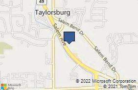 Bing Map of 5525 Salem Ave Trotwood, OH 45426