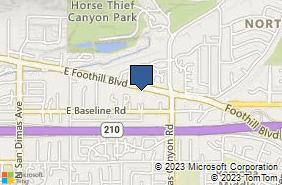 Bing Map of 554 E Foothill Blvd Ste 115 San Dimas, CA 91773