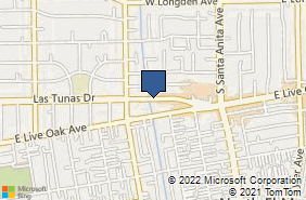 Bing Map of 556 Las Tunas Dr Ste 202 Arcadia, CA 91007