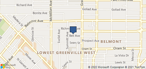 Bing Map of 5617 Bell Ave Dallas, TX 75206