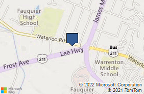 Bing Map of 568 Waterloo Rd Ste 104 Warrenton, VA 20186