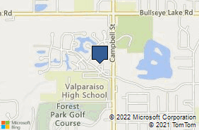 Bing Map of 570 Vale Park Rd Valparaiso, IN 46385