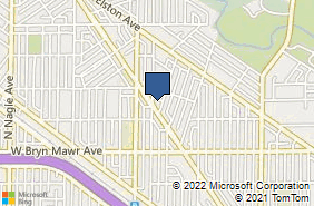 Bing Map of 5717 N Milwaukee Ave Chicago, IL 60646