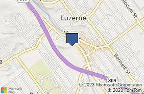 Bing Map of 572 Union St Luzerne, PA 18709