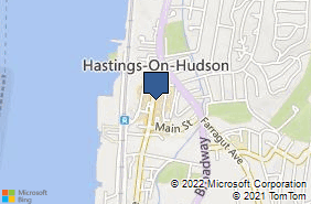 Bing Map of 572 Warburton Ave Hastings On Hudson, NY 10706
