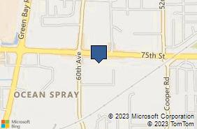 Bing Map of 5727 75th St Kenosha, WI 53142