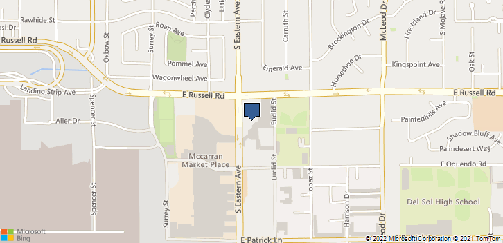 5740 S. Eastern Ave Las Vegas, NV, 89119 Map