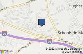 Bing Map of 580 Shoemaker Rd Ste 120 King Of Prussia, PA 19406