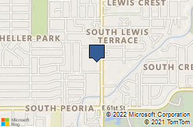 Bing Map of 5800 S Lewis Ave Ste 149 Tulsa, OK 74105