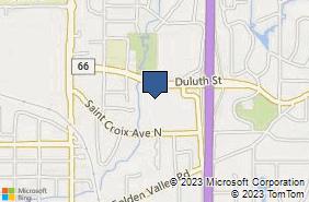 Bing Map of 5801 Duluth St Ste 102 Golden Valley, MN 55422