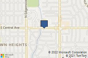Bing Map of 5825 E Central Ave Wichita, KS 67208