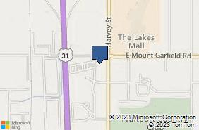 Bing Map of 5843 Harvey St Norton Shores, MI 49444