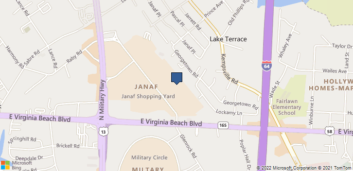 5900 E Virginia Beach Blvd 101 Norfolk, VA, 23502 Map