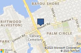 Bing Map of 5928 Stewart Rd Galveston, TX 77551
