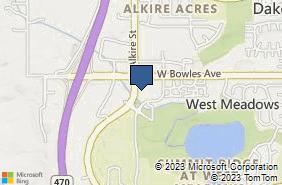 Bing Map of 5935 S Zang St Ste 270 Littleton, CO 80127