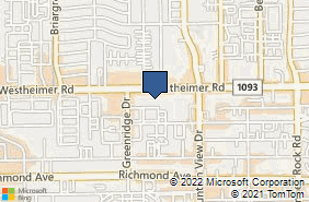 Bing Map of 5959 Westheimer Rd Ste 245 Houston, TX 77057