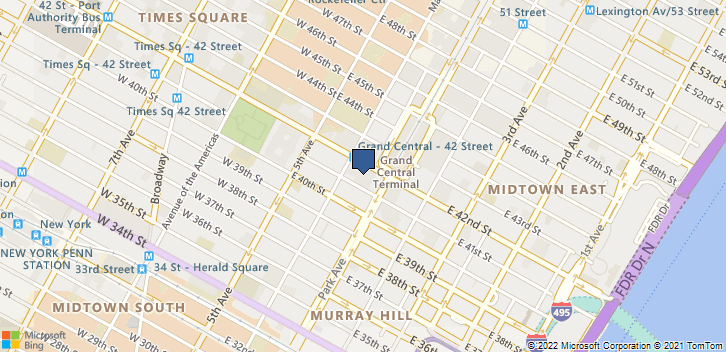 60 E 42nd St, 1841 New York, NY, 10016 Map