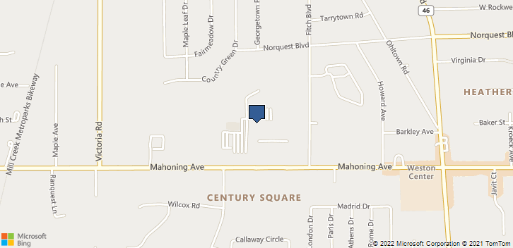6000 Mahoning Ave Youngstown, OH, 44515 Map