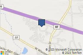 Bing Map of 601 Ryan St Ste E Pewaukee, WI 53072