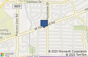 Bing Map of 601 W Harwood Rd Hurst, TX 76054