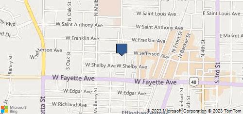 Bing Map of 603 W Jefferson Ave Effingham, IL 62401