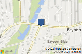 Bing Map of 606 Montauk Hwy Unit C Bayport, NY 11705