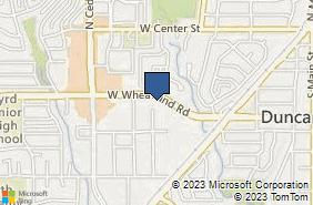 Bing Map of 606 W Wheatland Rd Ste 101 Duncanville, TX 75116