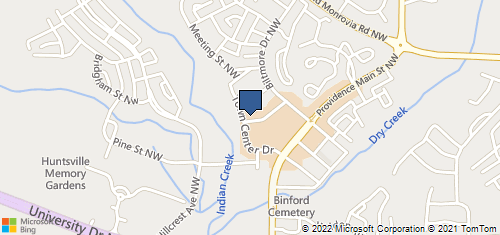 Bing Map of 61 Town Center Dr Nw Unit A Huntsville, AL 35806