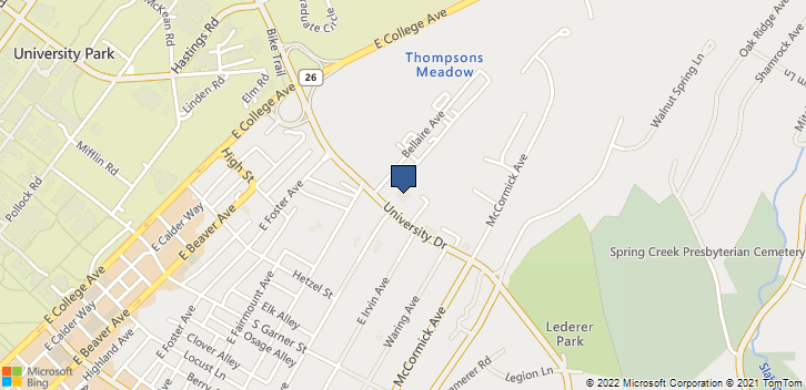 611 University Dr State College, PA, 16801 Map