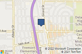 Bing Map of 617 Cecil Ave Delano, CA 93215