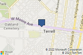 Bing Map of 617 W Moore Ave Terrell, TX 75160
