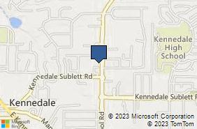 Bing Map of 619 Little School Rd Ste 203 Kennedale, TX 76060