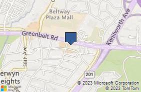 Bing Map of 6201 Greenbelt Rd Ste M9 Berwyn Heights, MD 20740